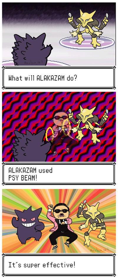 ALAKAZAM used PSY BEAM by Anubis-007