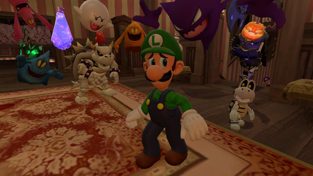 how to catch the baby gost in luigis mansion