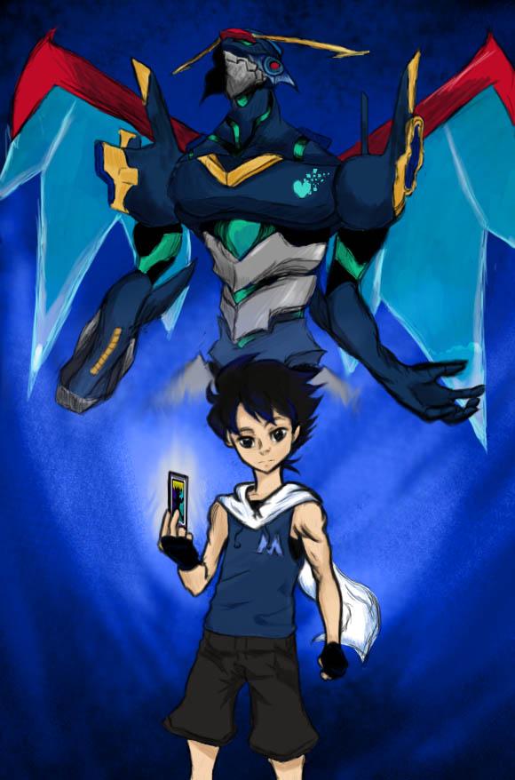 Megaman Rock Aki Light Persona by SSBBknuckles