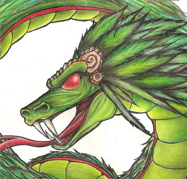 Quetzalcoatl sketch by Giosuke on DeviantArt
