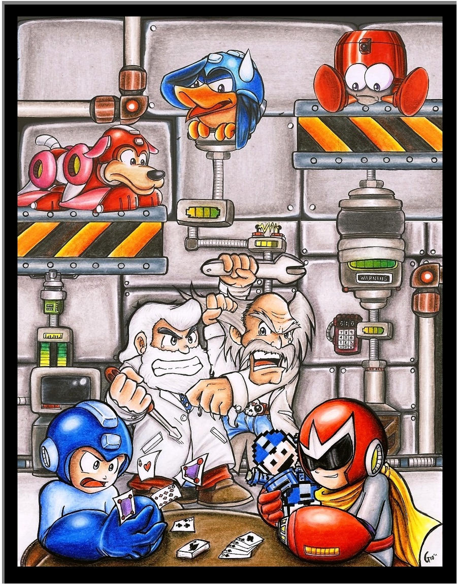 Megaman Tribute ... Rivality by Giosuke