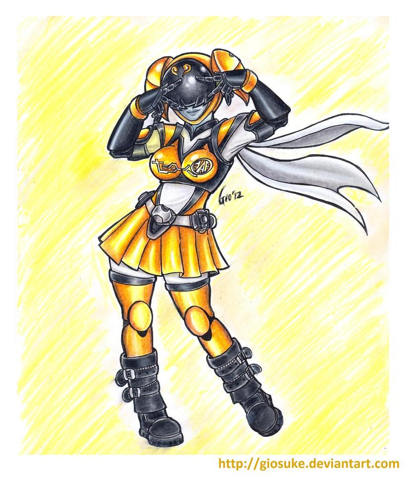 Akiba Yellow Nyan by Giosuke