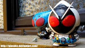 Kamen Rider Meteor and Fourze custom