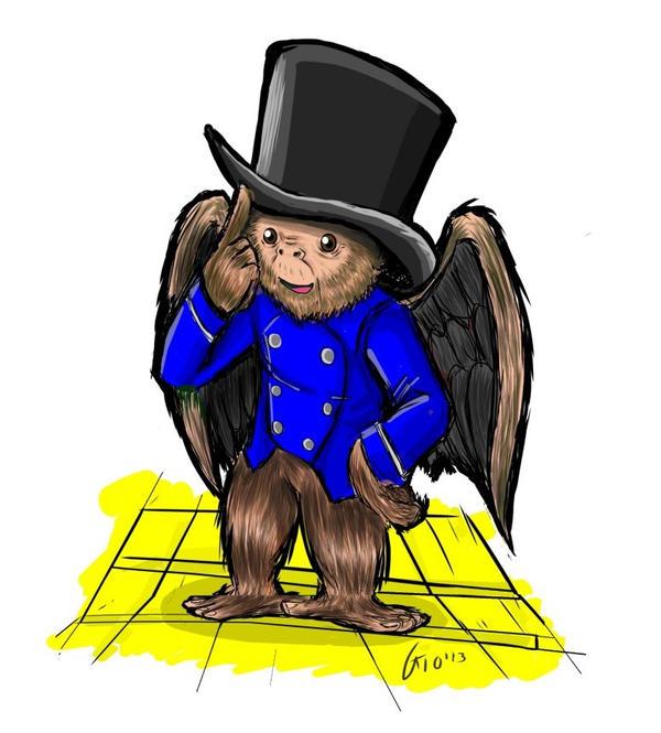 Finley the flying monkey by Giosuke