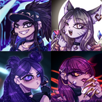 {F] K/DA icons