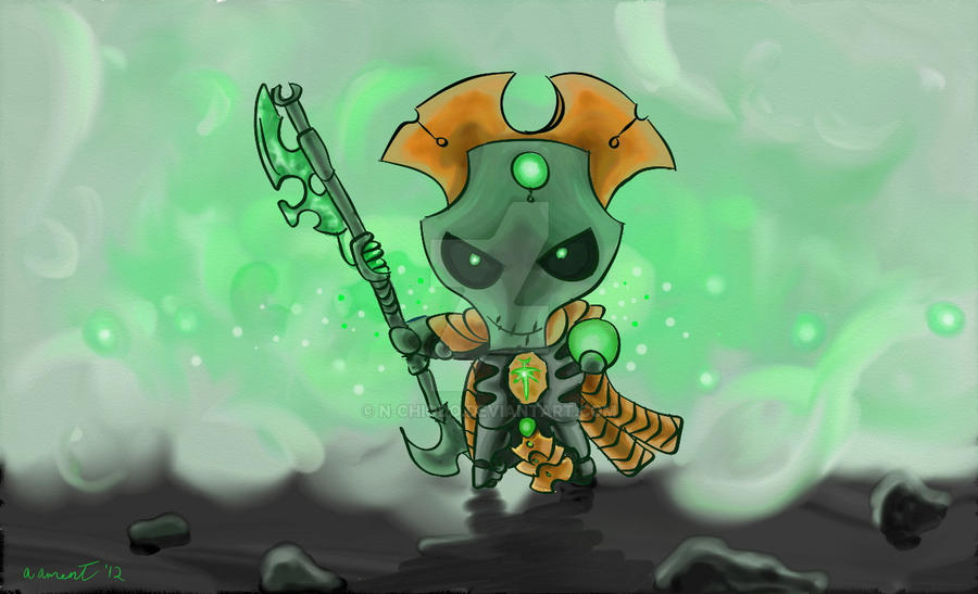 Necron Overlord......Chibi-ed by N-Chiodo