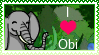 I Love Obi Stamp by BlueButterflyArt1