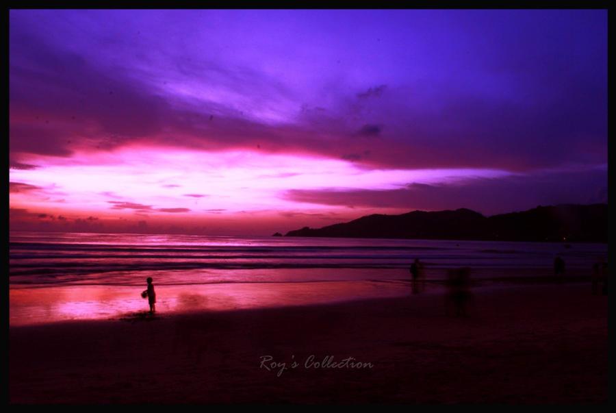 VIOLET Purple_Rain_at_Patong_Beach_by_RoyWicaksono