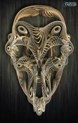 Filigrane Skull by Tahyon