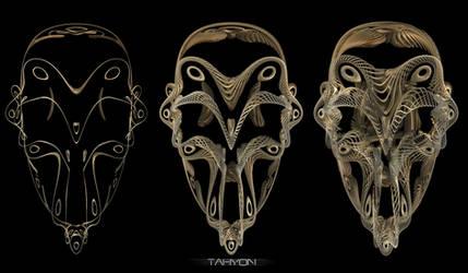 Filigrane skull WIP by Tahyon