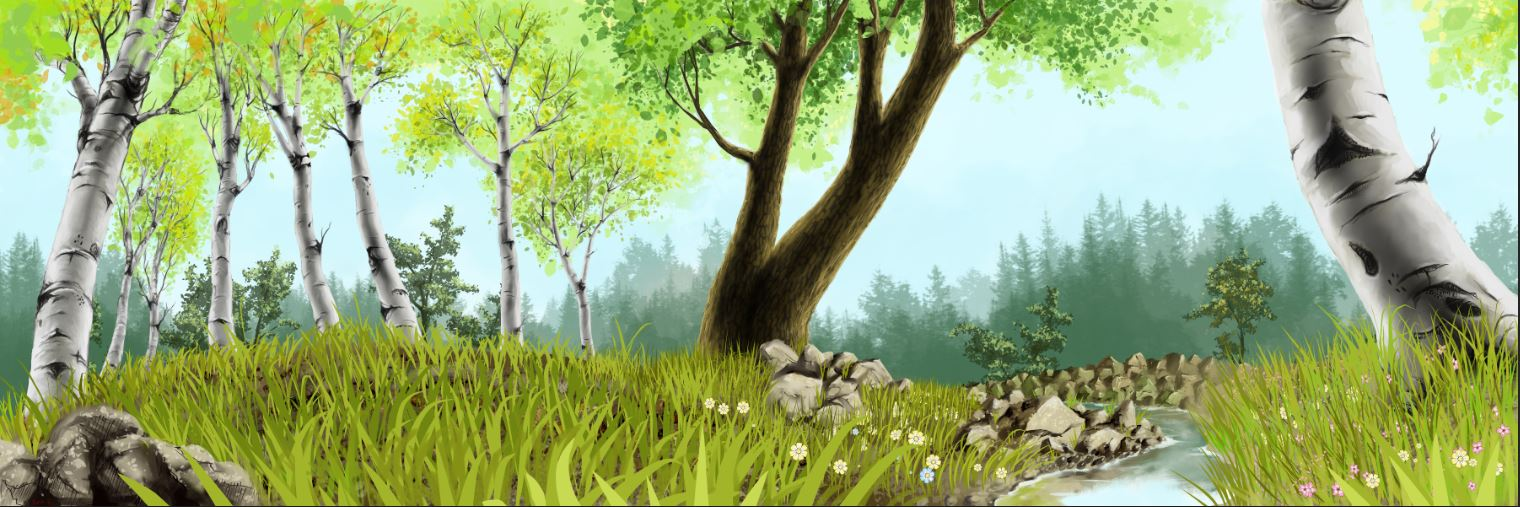 Woodland Scene Background For Kids Name Banner By Cpl Edge