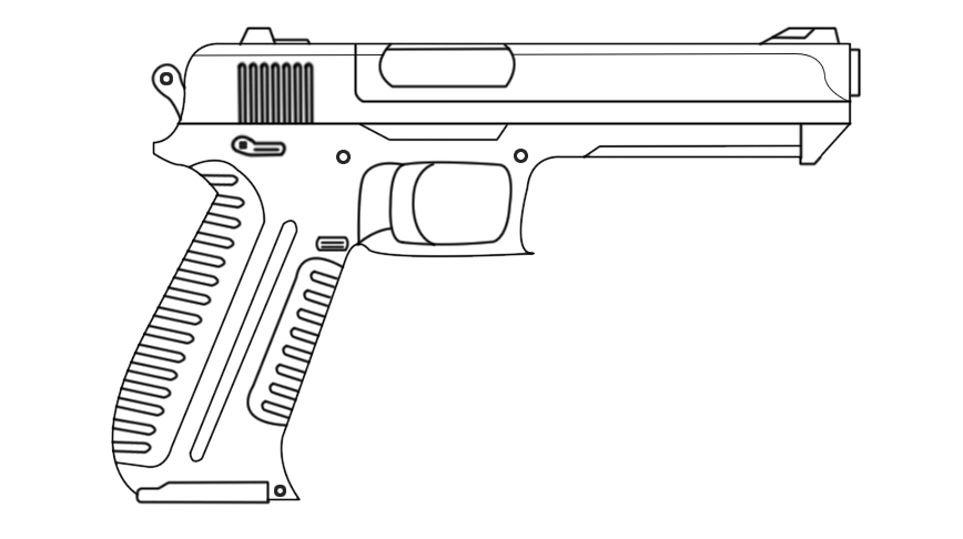 One Line Art Gun : Gun drawing by red scope on deviantart