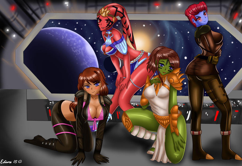 star wars oc's commission clothed by Eviane