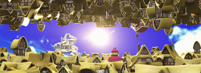 reflection ponyville Background