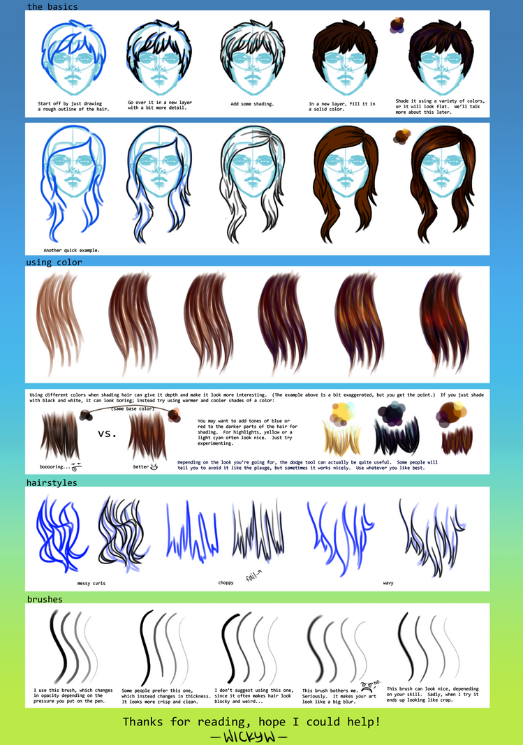 Hair Tutorial by wick-y