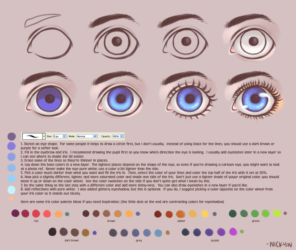 Eye Tutorial by wick-y
