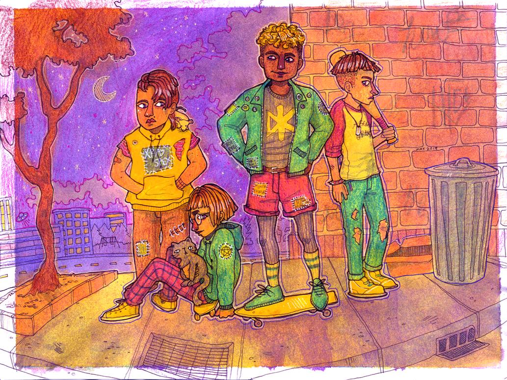 girl gang by wick-y