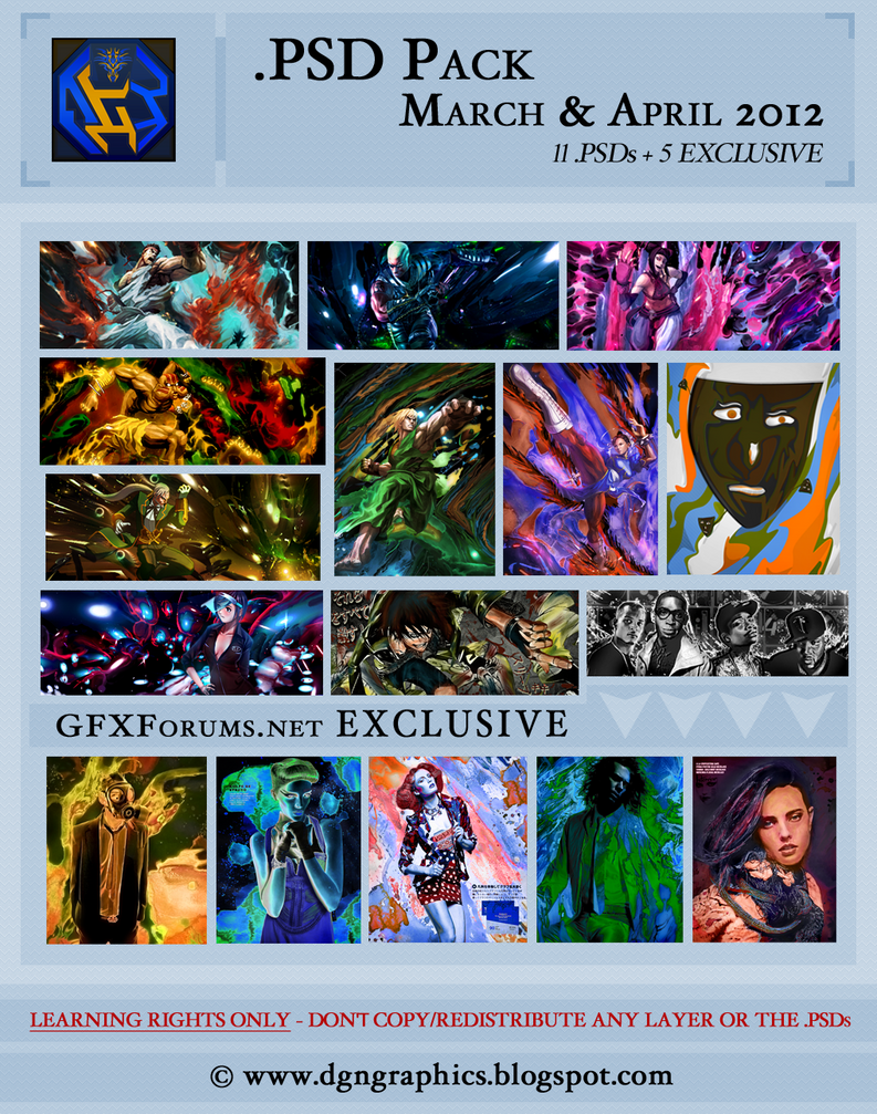 DGN PSD Pack - Mar and Apr '12 (pass updated) by DraGoonMS