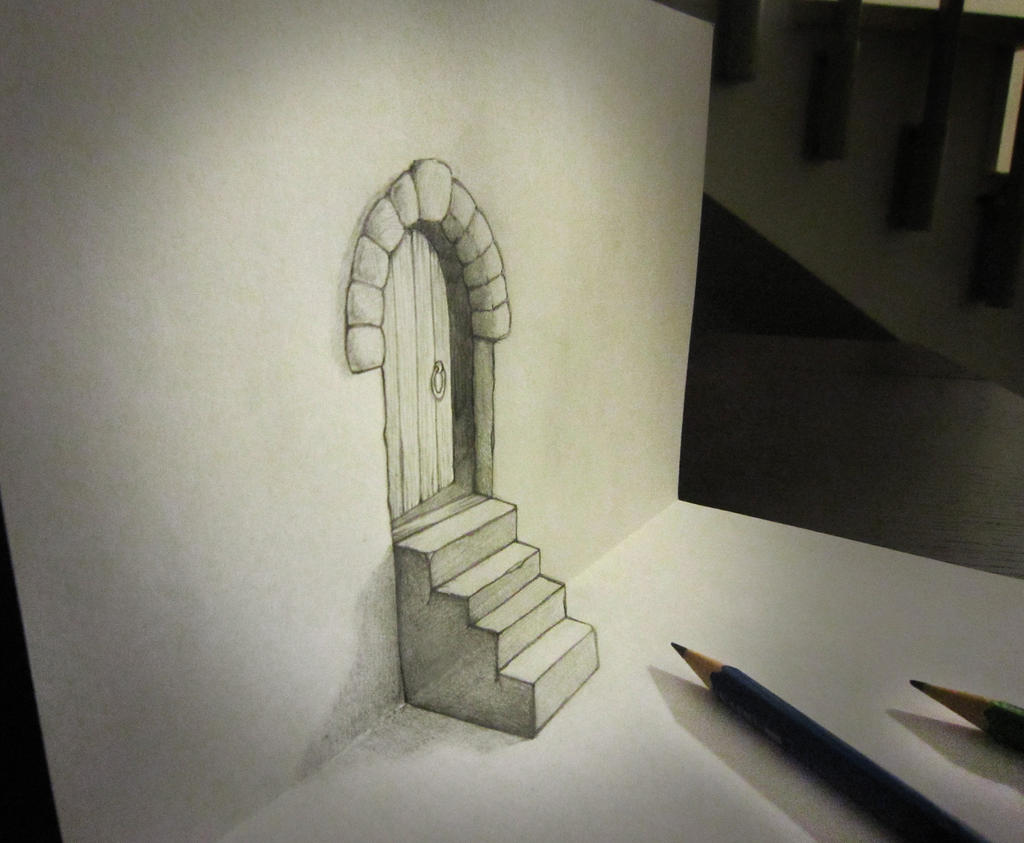 Door and stair anamorphosis by AlessandroDIDDI