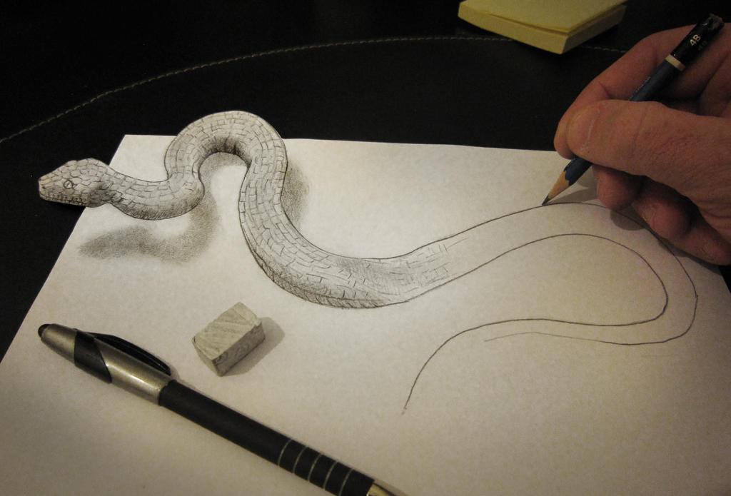 Anamorphic Snake by AlessandroDIDDI