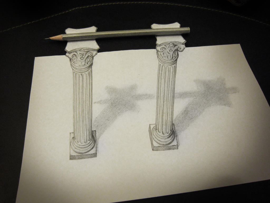 Pencil on columns by AlessandroDD