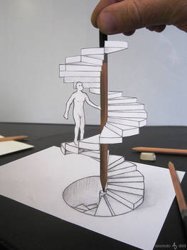 The pencil staircase