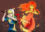 Adventure Time:Finn And Flame Princess