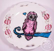 Owl Plate by Mirella-Gabriele