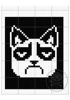 grumpy cat knitting pattern by Mirella-Gabriele