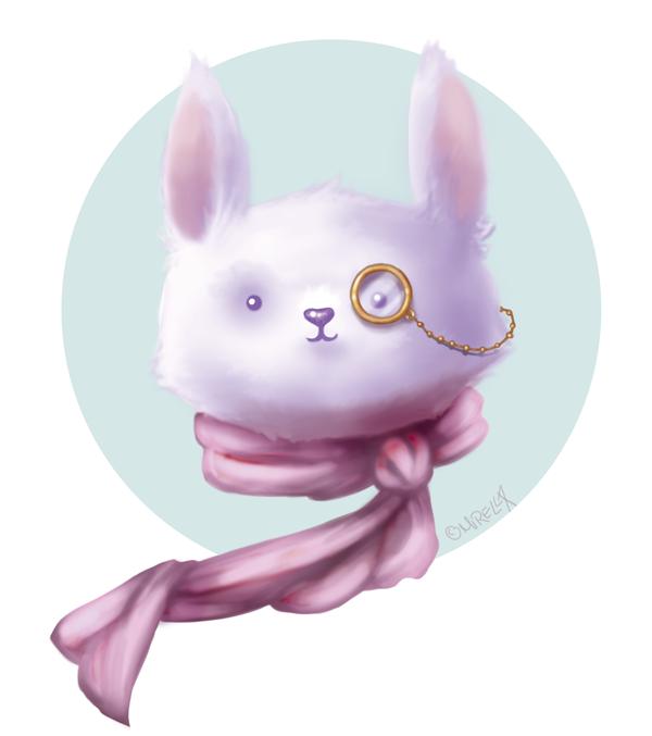 Steampunk bunny by Mirella-Gabriele