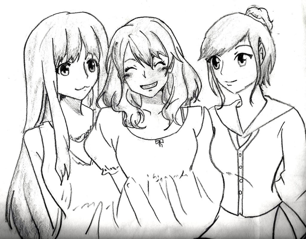 Drawing me and my friend as anime!  YouTube
