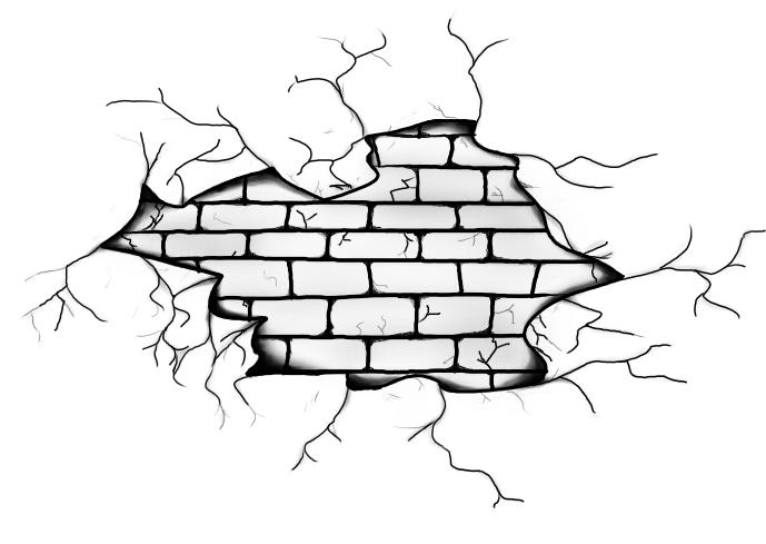 Broken Wall By Theesilent On Deviantart