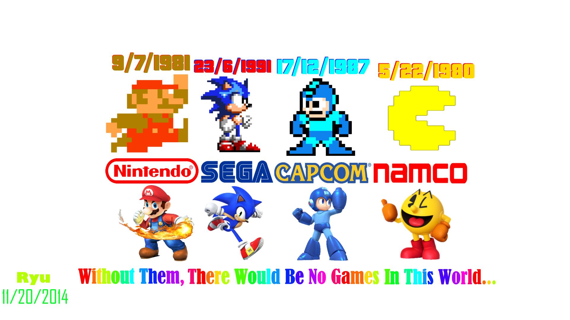 Mario Vs Sonic Vs Megaman Vs Pacman Mario Sonic Meg...