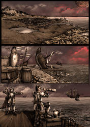 Fantasy Themed Comic-test page by VonBrrr