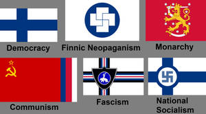 Different Ideologies Flags of Finland