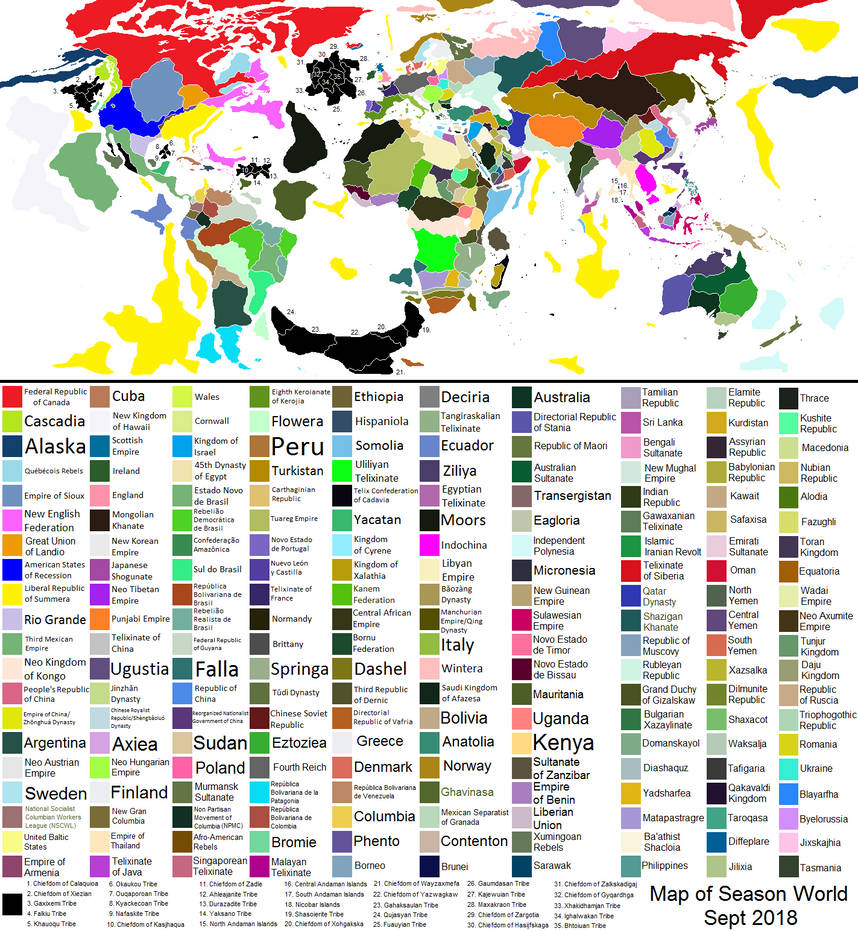 Map of The Season World Timeline 2018 (Read Desc.)