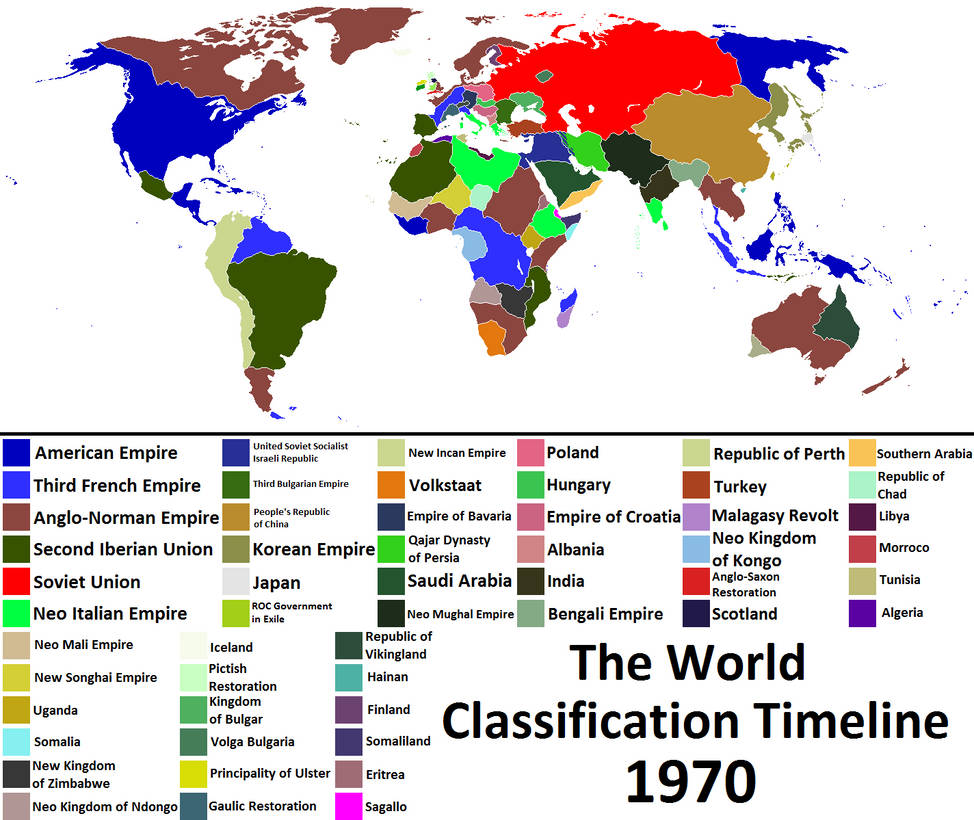 The World Classification Timeline Map 1970