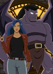 Gargoyles: Goliath and Elisa Maza