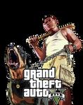 GTA V - Dog Character .png file