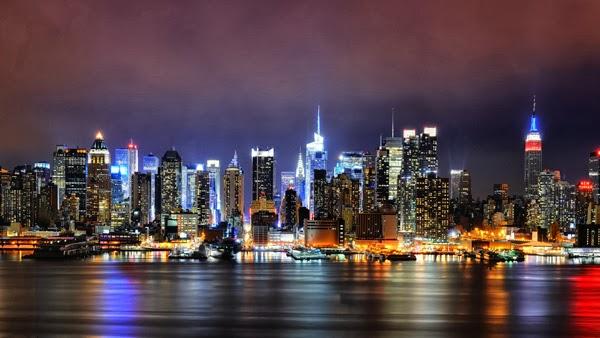 Eli Oldham - New York at night (America) by elioldham