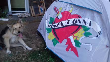 Custom tent WITH NO COOL DOGGO
