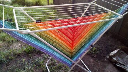 Rainbow Milles shawl
