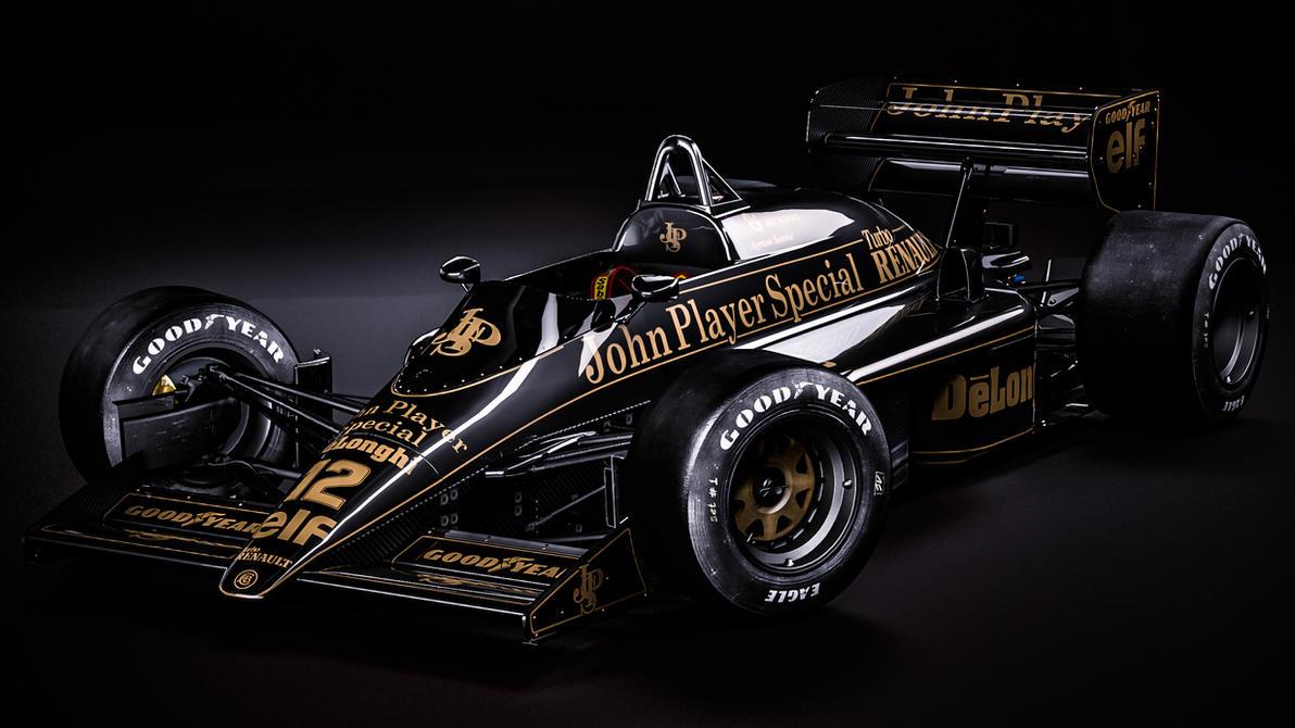 Lotus 98T - Ayrton Senna por nancorocks