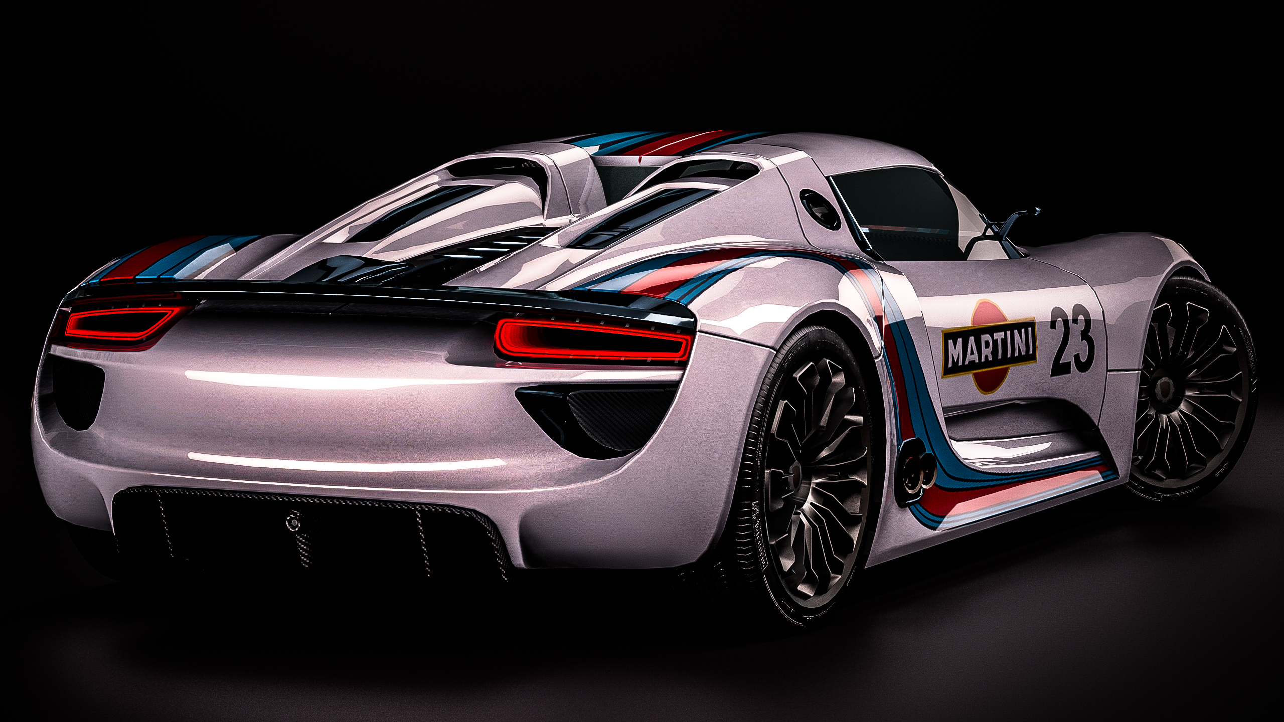 Porsche 918 Prototype Vintage Martini Racing By Nancorocks