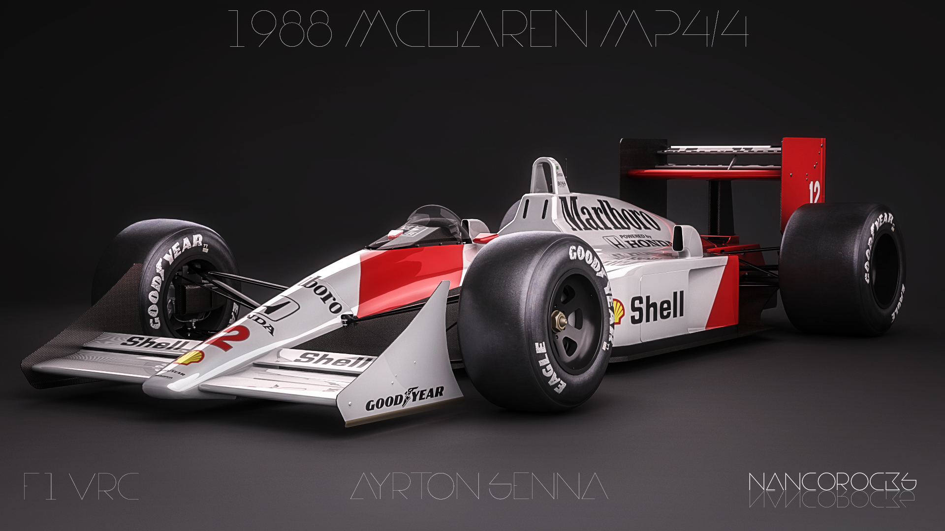 1988 Mclaren Mp4 4 Ayrton Senna By Nancorocks On