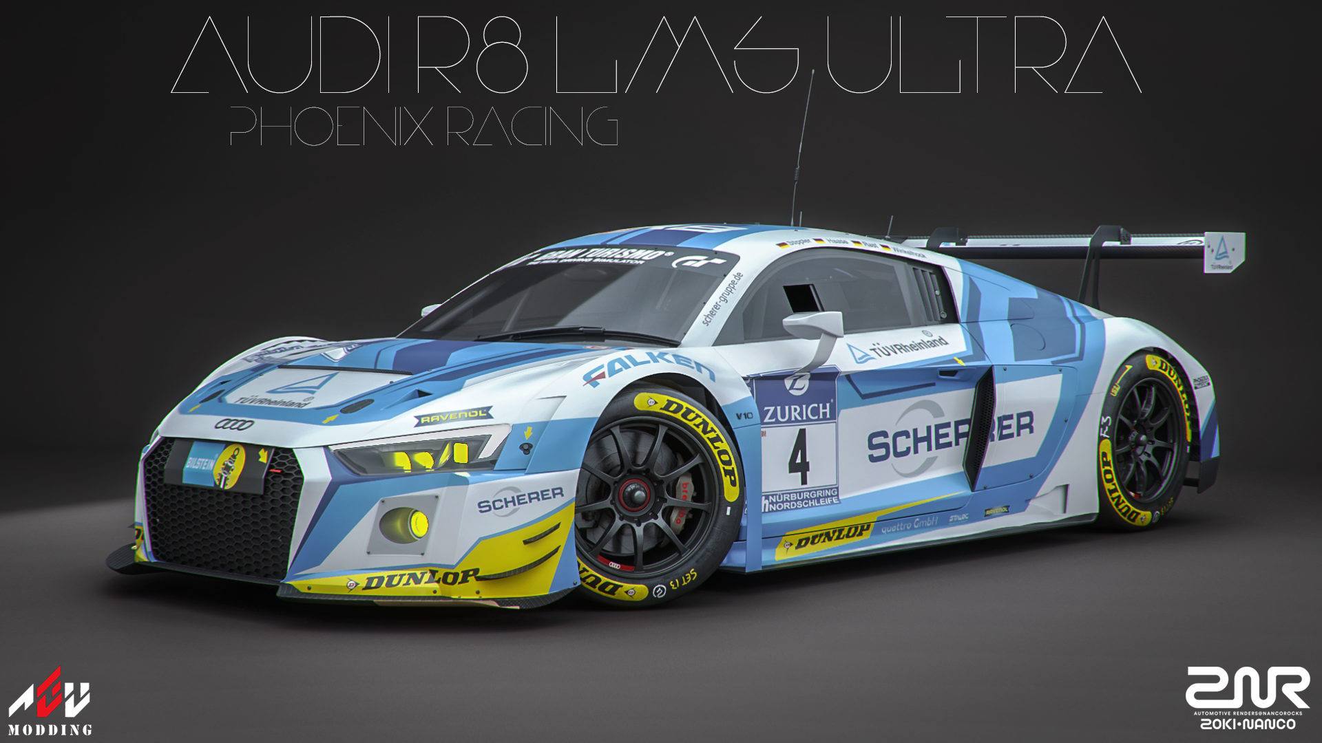 Audi R8 Lms Ultra Phoenix Racing By Nancorocks On