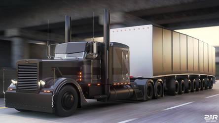 Peterbilt 389 - Custom - 8 axle trailer - by nancorocks