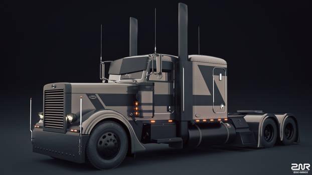 Peterbilt 389 - Custom - 8 axle trailer -