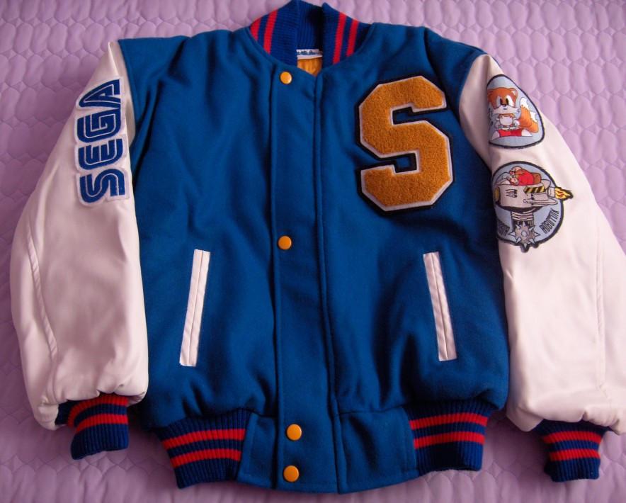 Sonic 2 Varsity Jacket Front By Blue Sonikku On Deviantart