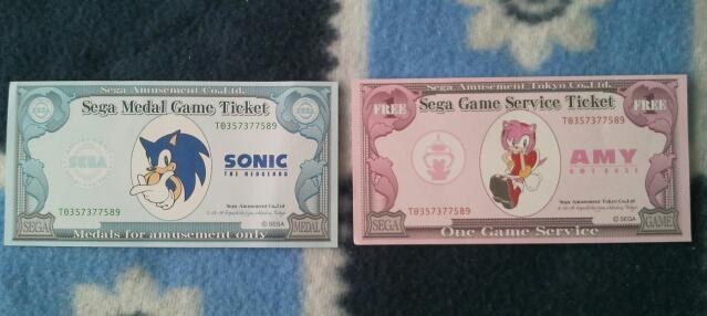 Sonic and Amy Cash Voucher by Blue-Sonikku